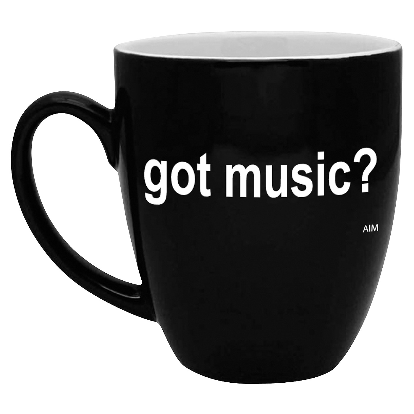 AIM Got Music? Black and White Bistro Coffee Mug thumbnail