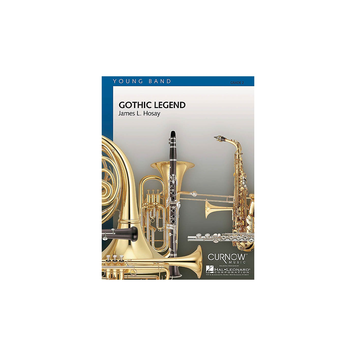 Curnow Music Gothic Legend (Grade 2 - Score and Parts) Concert Band Level 2 Composed by James L. Hosay thumbnail