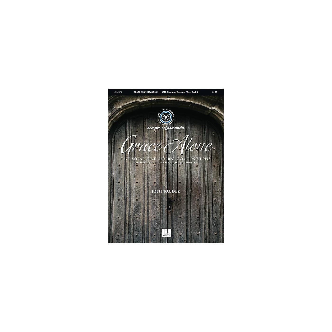 Jubal House Publications Grace Alone SATB composed by Josh Bauder thumbnail