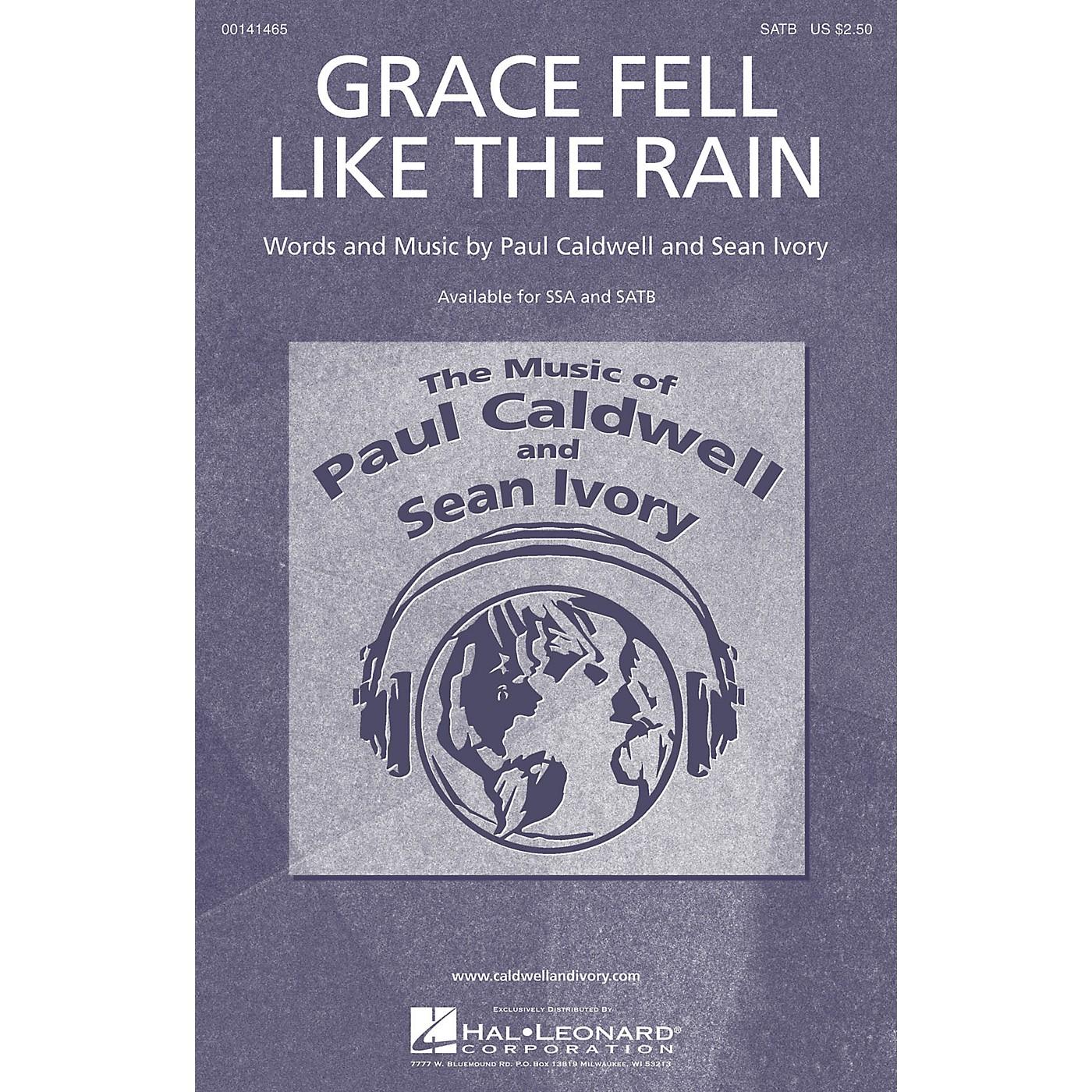 Caldwell/Ivory Grace Fell Like the Rain SATB composed by Paul Caldwell thumbnail