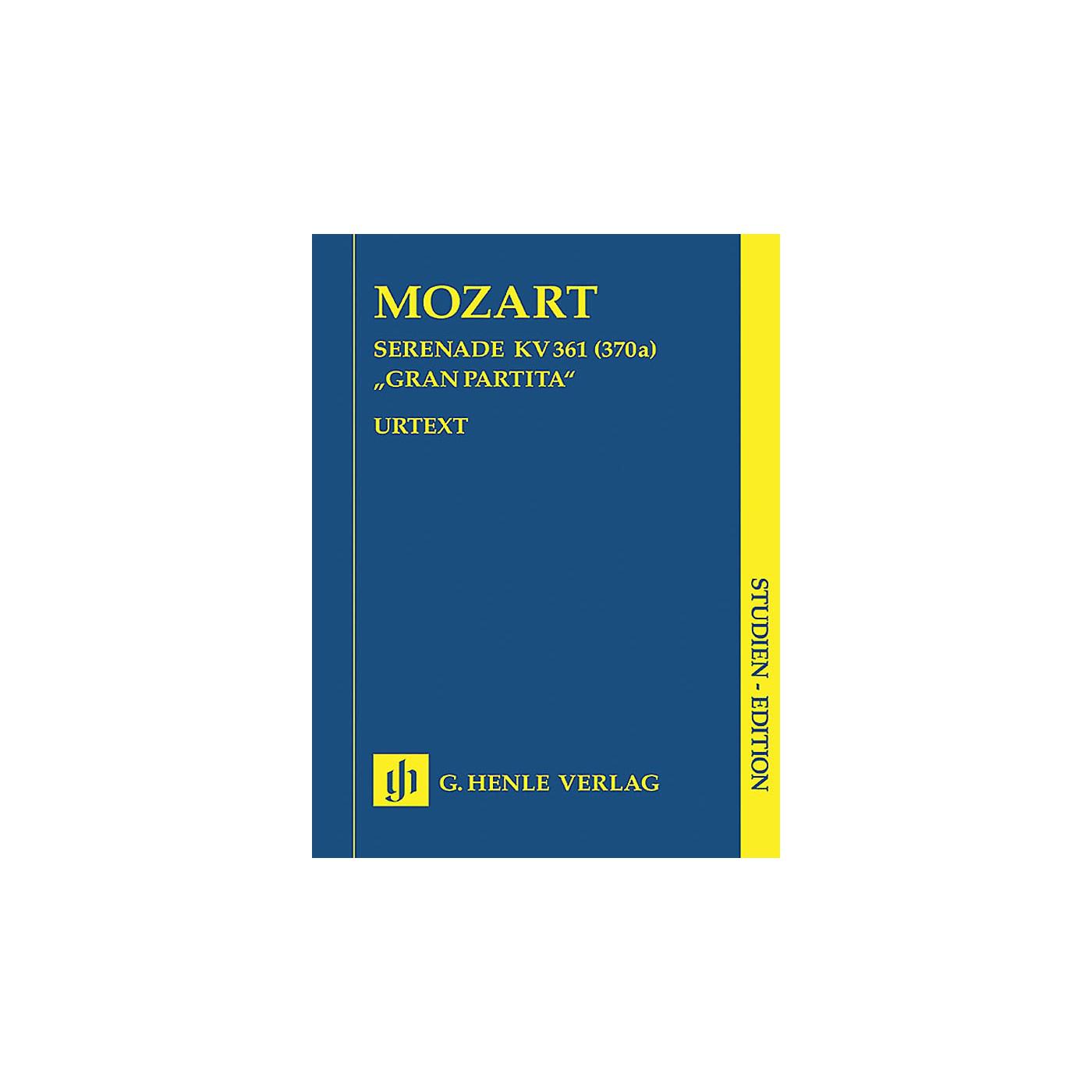 G. Henle Verlag Gran Partita Bb Major K361 (Study Score) Henle Study Scores Series Softcover by Wolfgang Amadeus Mozart thumbnail