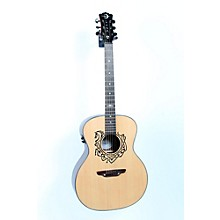 Luna Guitars Grand Concert Celtic-Themed Acoustic-Electric Guitar