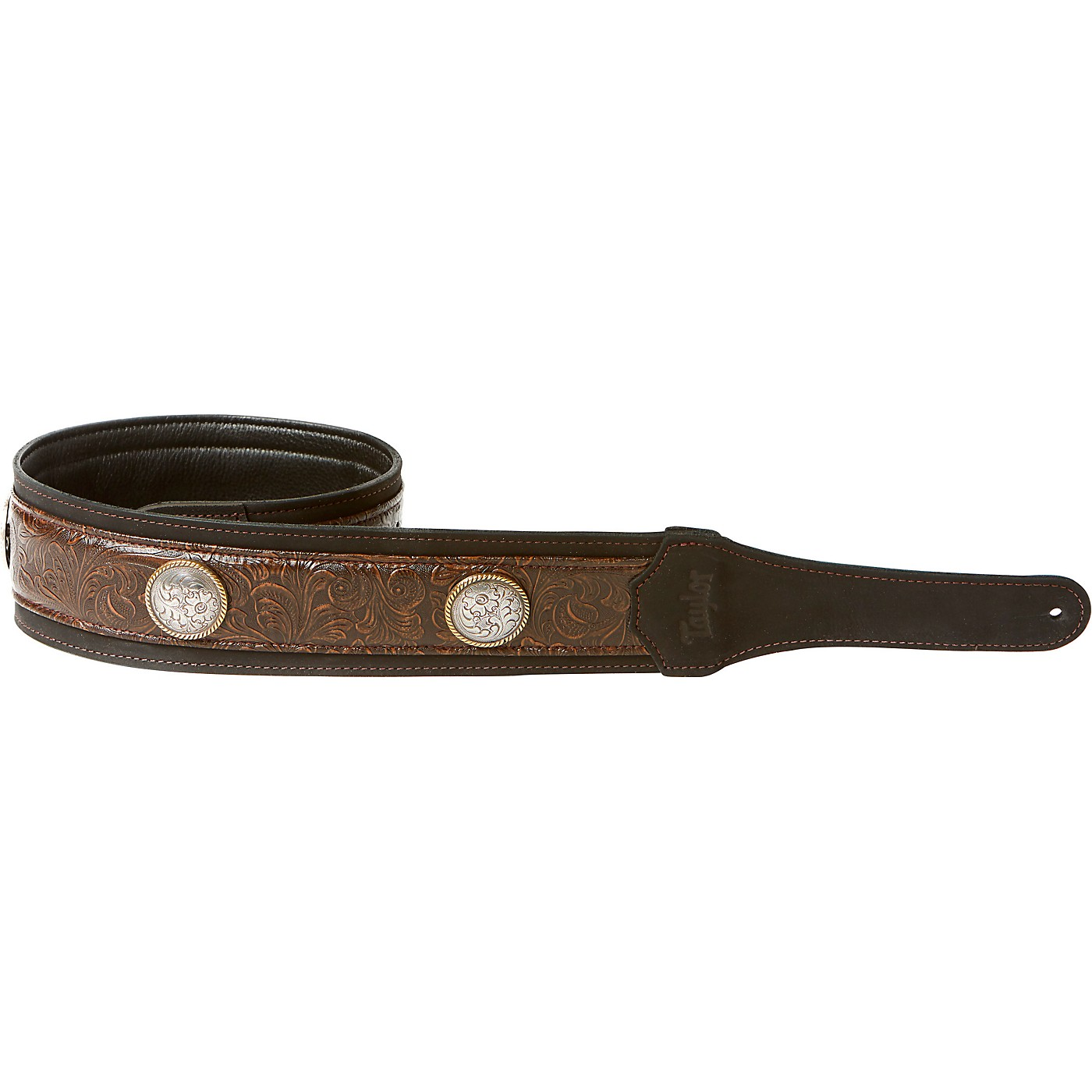Taylor Grand Pacific Leather Strap, Nickel Conchos thumbnail