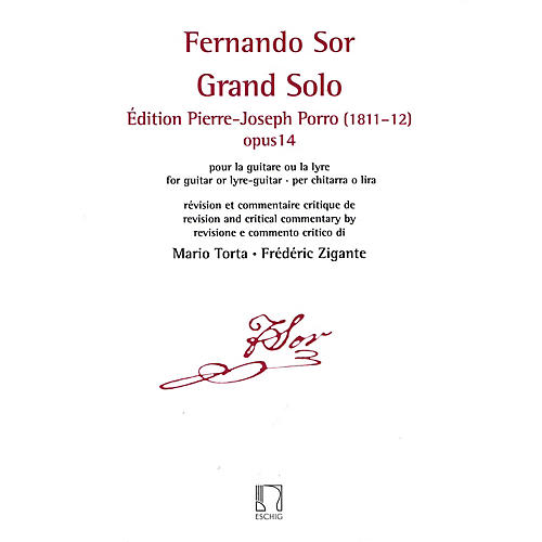 Durand Grand Solo: Edition Pierre Porro (1811-12), Op. 14 Editions Durand Series Softcover thumbnail