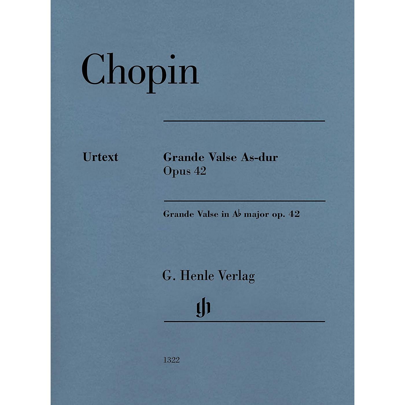 G. Henle Verlag Grande Valse A-flat Major Op. 42 (Edition with Fingering) Henle Music Folios Series Softcover thumbnail