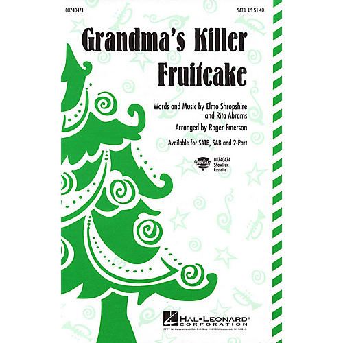 Hal Leonard Grandma's Killer Fruitcake ShowTrax CD Arranged by Roger Emerson thumbnail