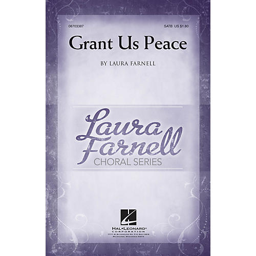 Hal Leonard Grant Us Peace SATB composed by Laura Farnell thumbnail