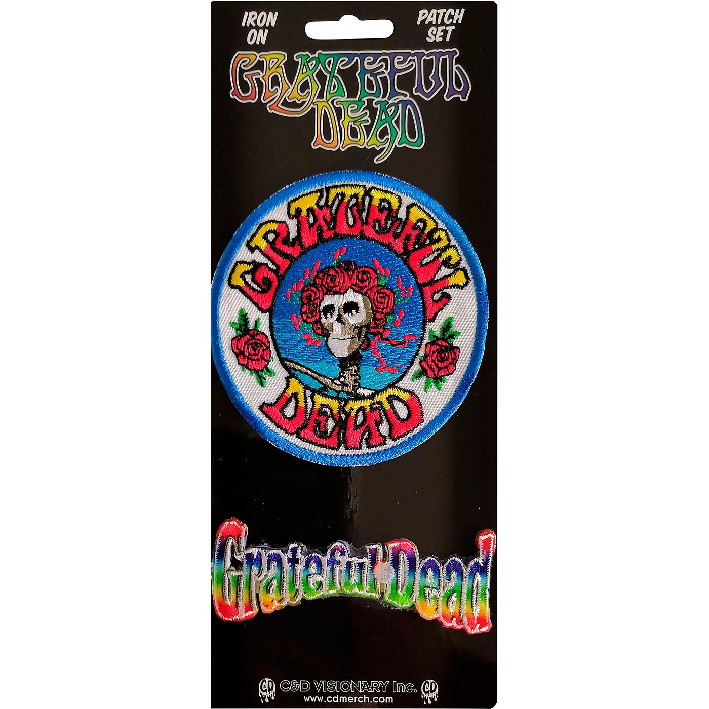 C&D Visionary Grateful Dead Skull Roses Patch set thumbnail