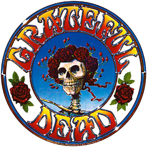C&D Visionary Grateful Dead Skull & Roses Sticker-thumbnail