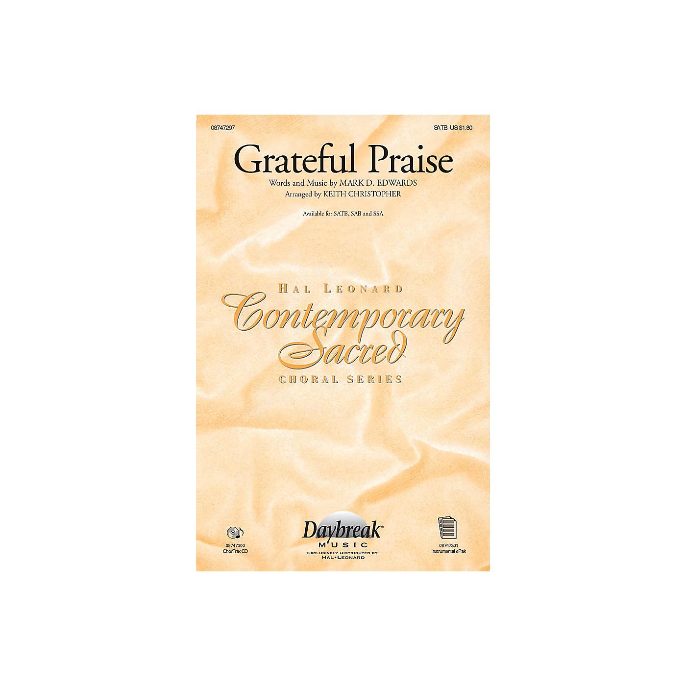 Daybreak Music Grateful Praise CHOIRTRAX CD Arranged by Keith Christopher thumbnail