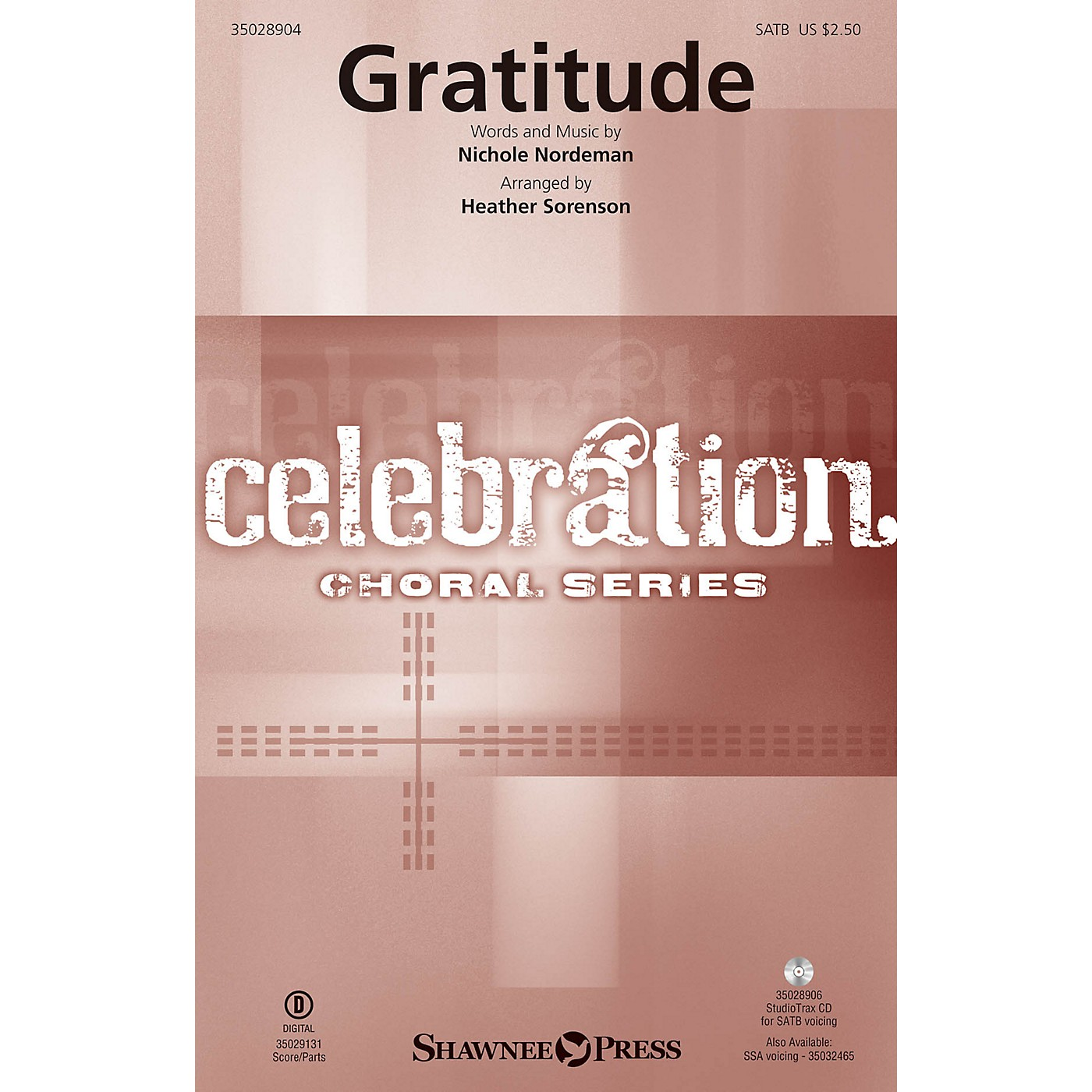 Shawnee Press Gratitude Studiotrax CD Arranged by Heather Sorenson thumbnail