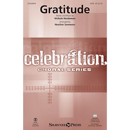Shawnee Press Gratitude Studiotrax CD Arranged by Heather Sorenson thumbnail