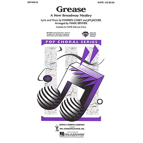 Hal Leonard Grease (A New Broadway Medley) ShowTrax CD Arranged by Mark Brymer thumbnail