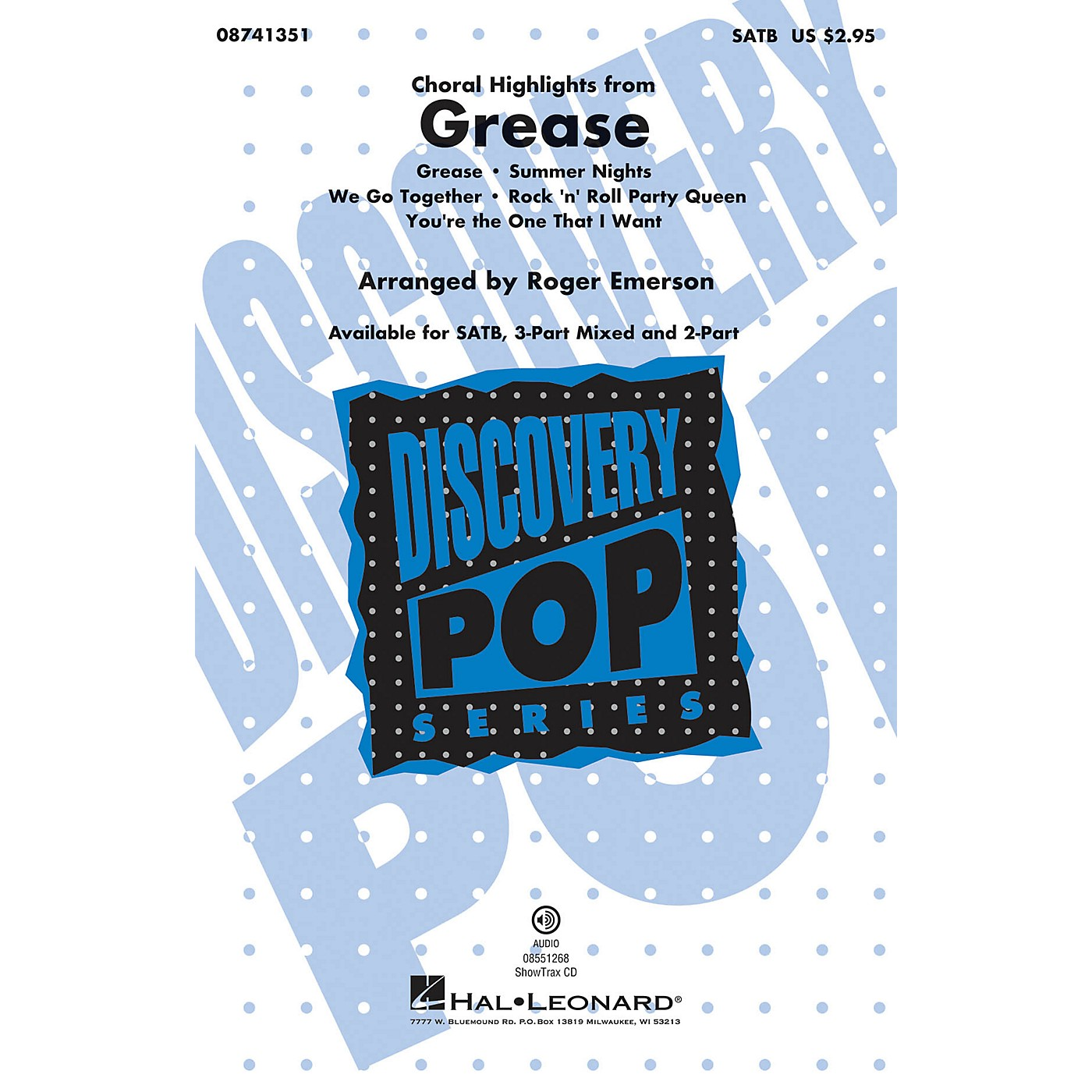 Hal Leonard Grease (Choral Highlights) ShowTrax CD Arranged by Roger Emerson thumbnail