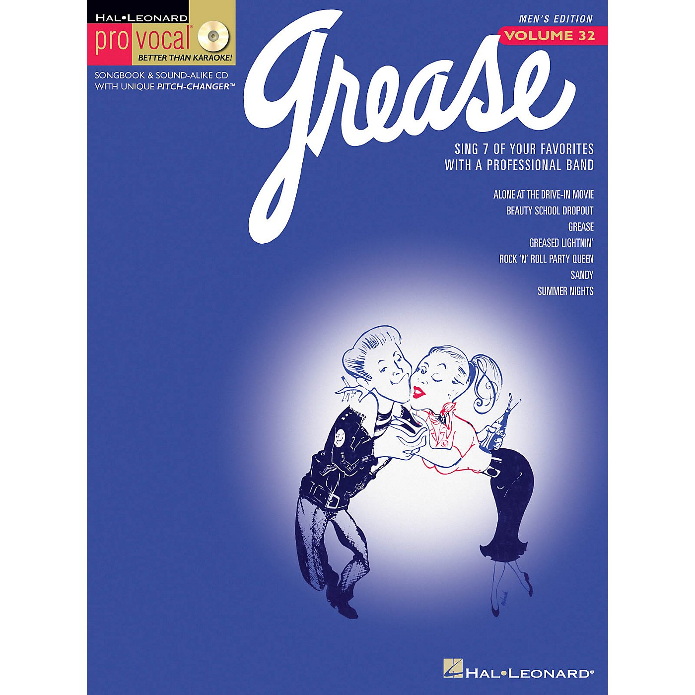 Hal Leonard Grease (Pro Vocal Men's Edition Volume 32) Pro Vocal Series Softcover with CD Composed by Various thumbnail