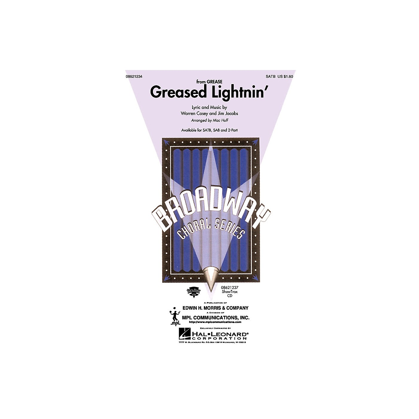 Hal Leonard Greased Lightnin' (from Grease) (2-Part and Piano) 2-Part Arranged by Mac Huff thumbnail