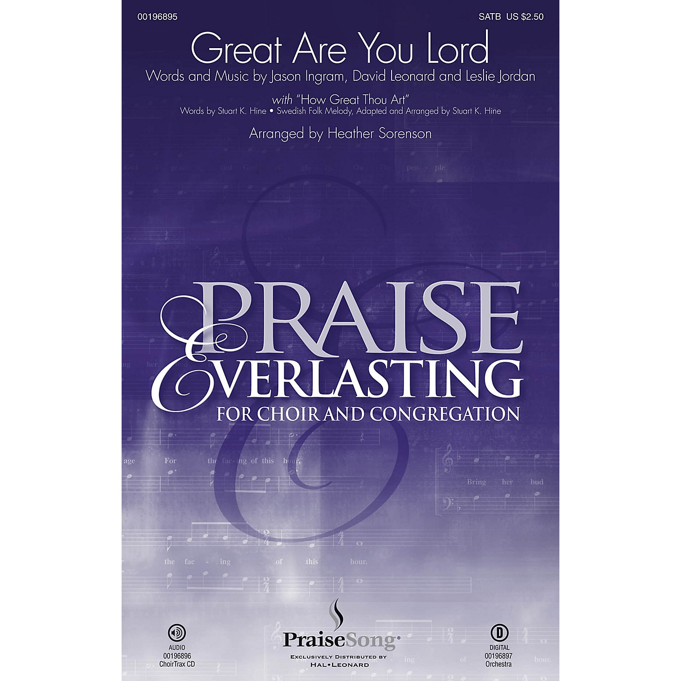 PraiseSong Great Are You Lord CHOIRTRAX CD by One Sonic Society Arranged by Heather Sorenson thumbnail