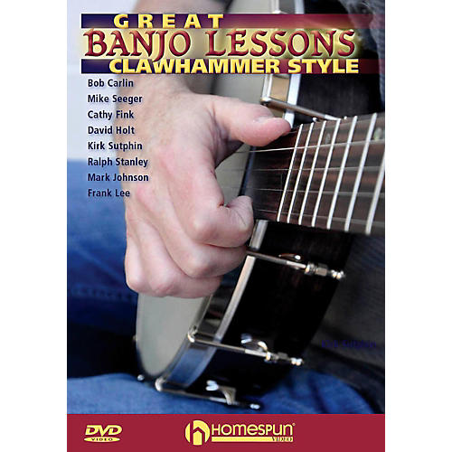 Homespun Great Banjo Lessons: Clawhammer Style DVD thumbnail