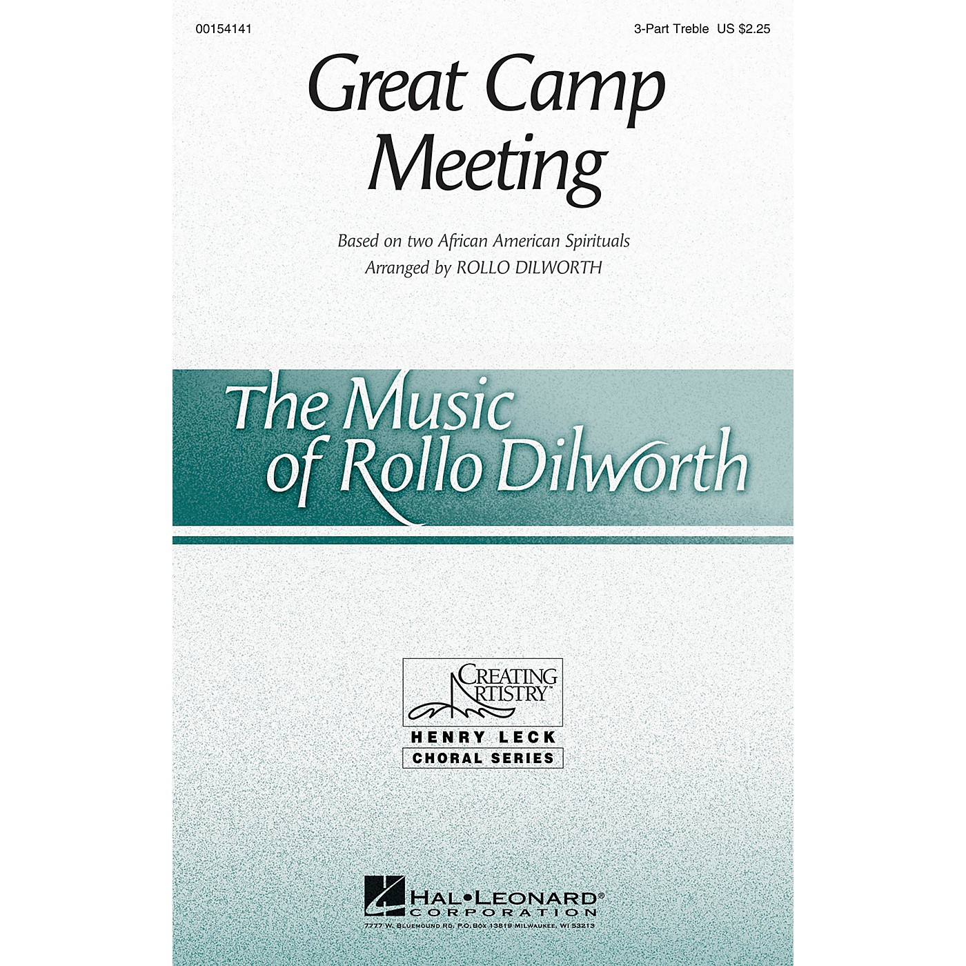 Hal Leonard Great Camp Meeting 3 Part Treble arranged by Rollo Dilworth thumbnail
