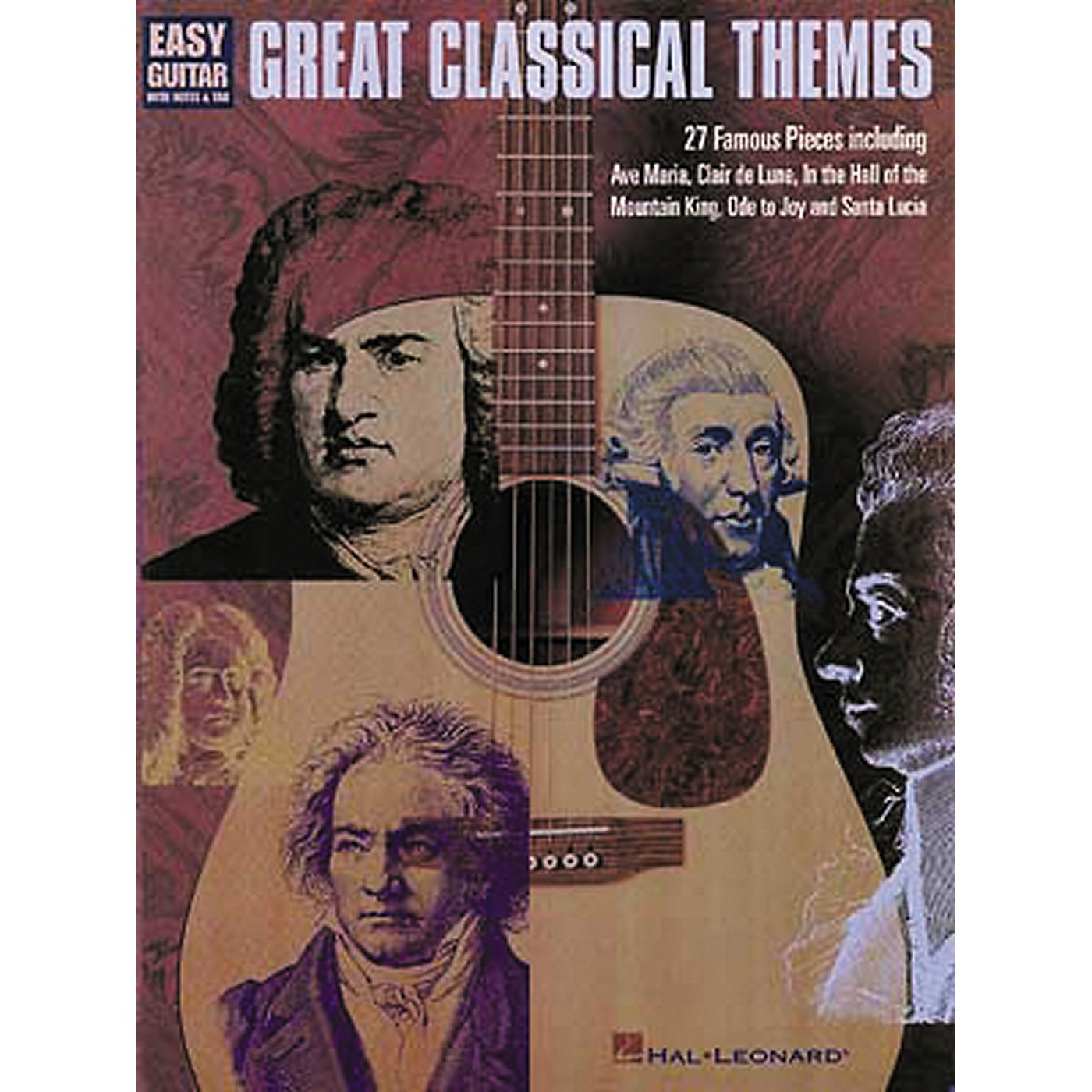 Hal Leonard Great Classical Themes for Easy Guitar Tab Book thumbnail