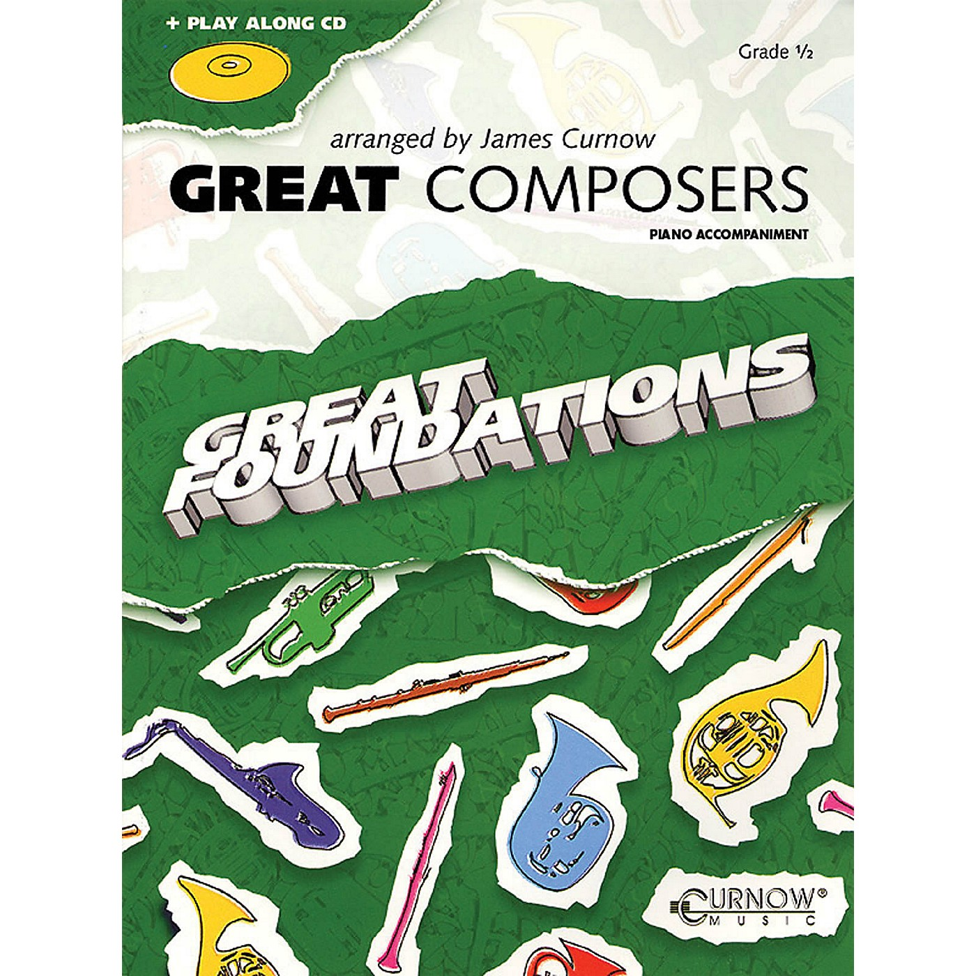 Curnow Music Great Composers (Piano Accompaniment (No CD)) Concert Band Level 1/2 thumbnail