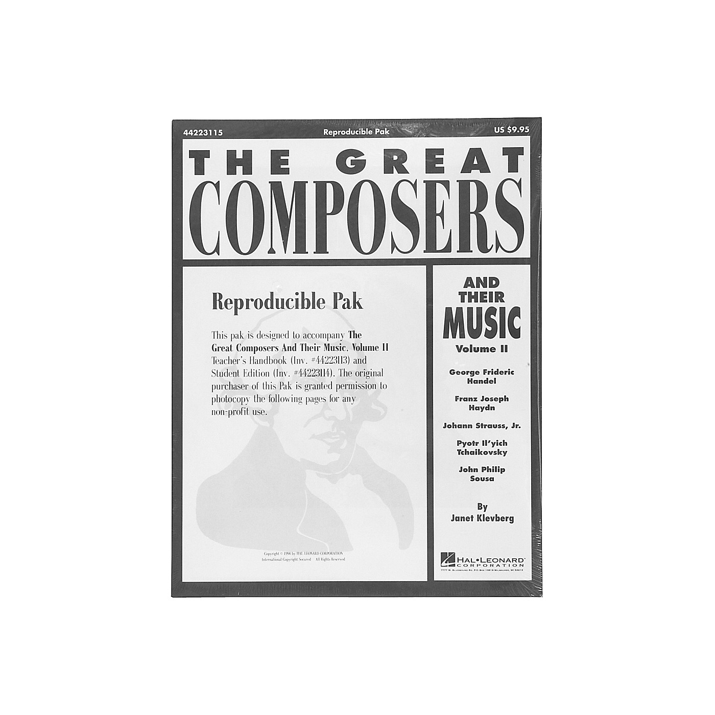 Hal Leonard Great Composers and Their Music Vol. 2 Reproducible Pak thumbnail