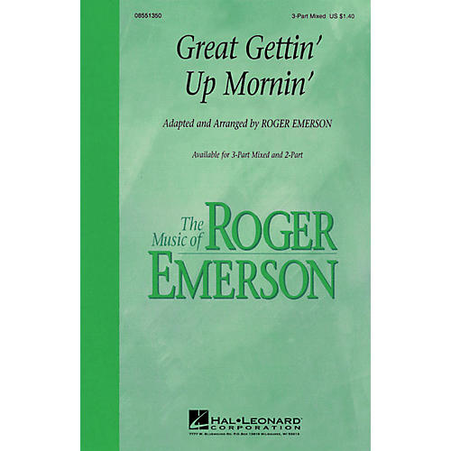 Hal Leonard Great Gettin' Up Mornin' 3-Part Mixed arranged by Roger Emerson thumbnail