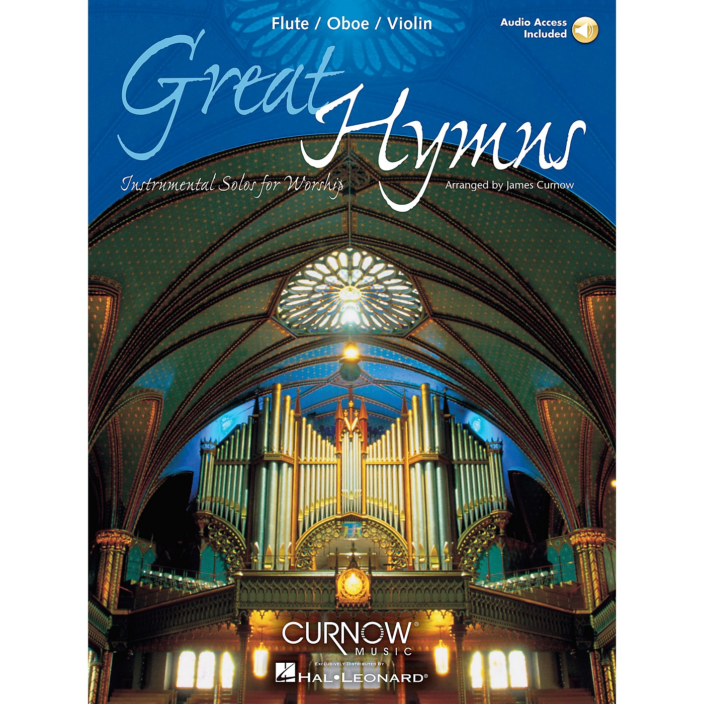 Curnow Music Great Hymns (Flute/Oboe/Violin - Grade 3-4) Concert Band Level 3-4 thumbnail