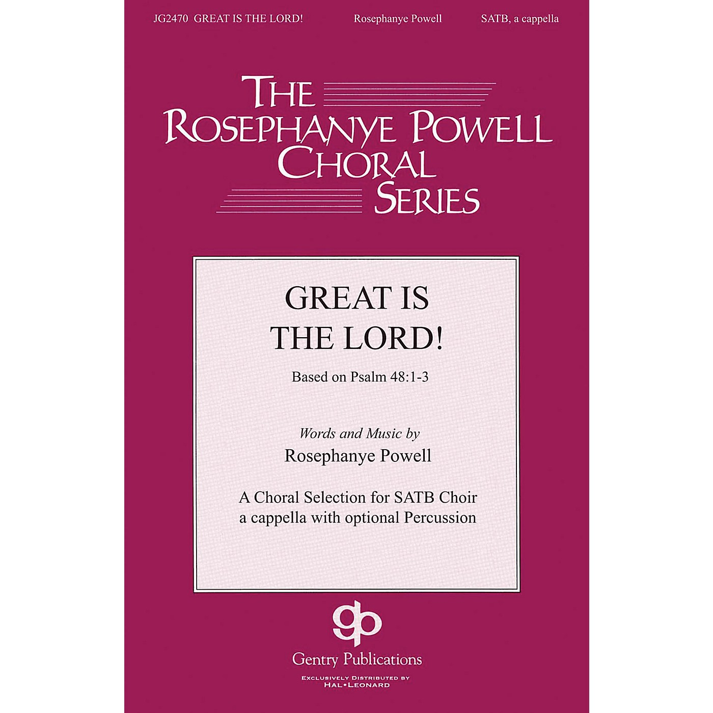 Gentry Publications Great Is the Lord SATB DV A Cappella composed by Rosephanye Powell thumbnail
