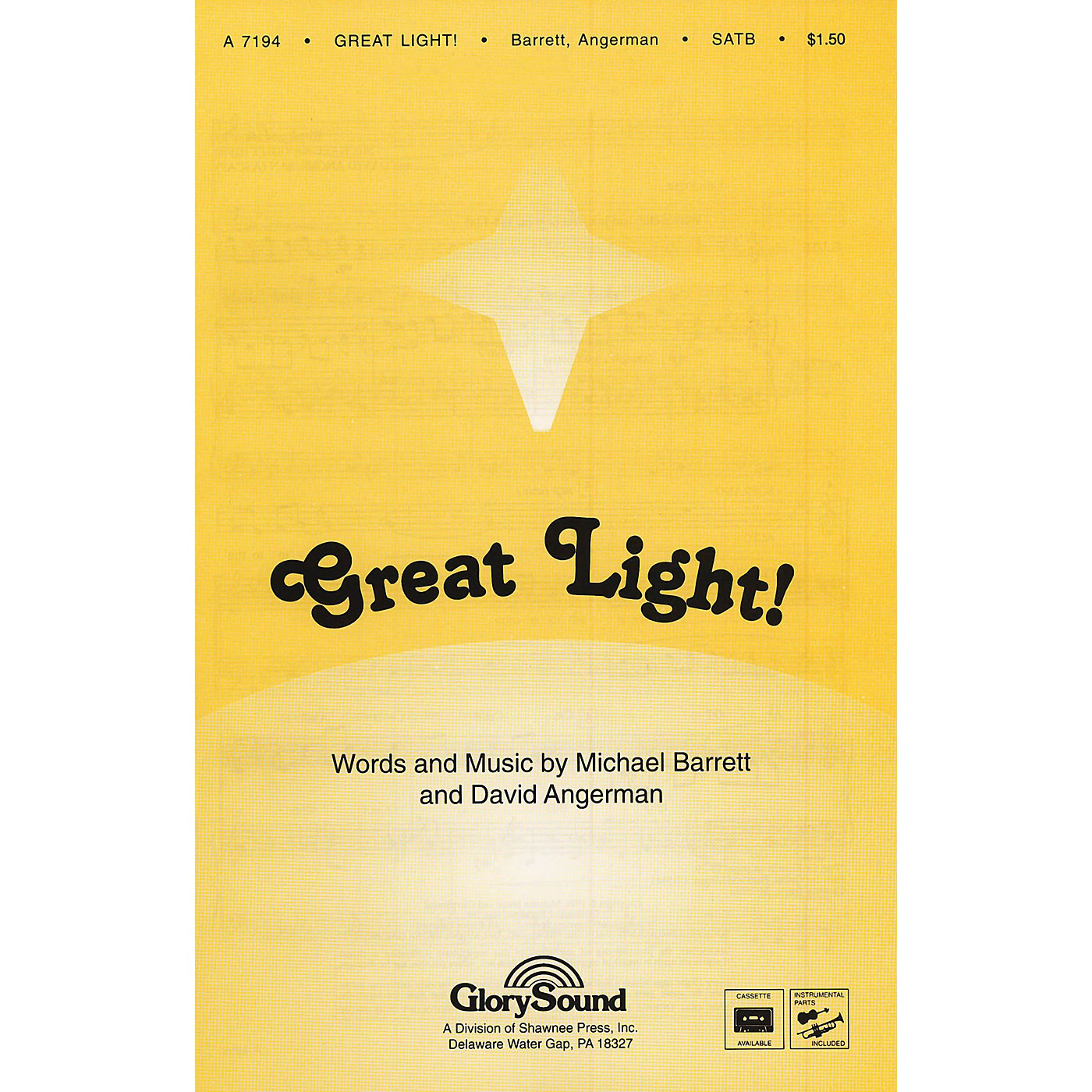 Shawnee Press Great Light! SATB WITH FLUTE (OR C-INST) composed by David Angerman thumbnail