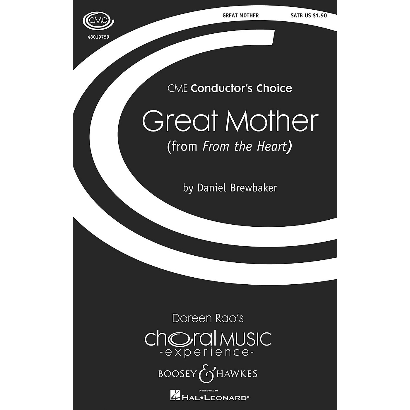 Boosey and Hawkes Great Mother (No. 1 from From the Heart) CME Conductor's Choice SATB composed by Daniel Brewbaker thumbnail