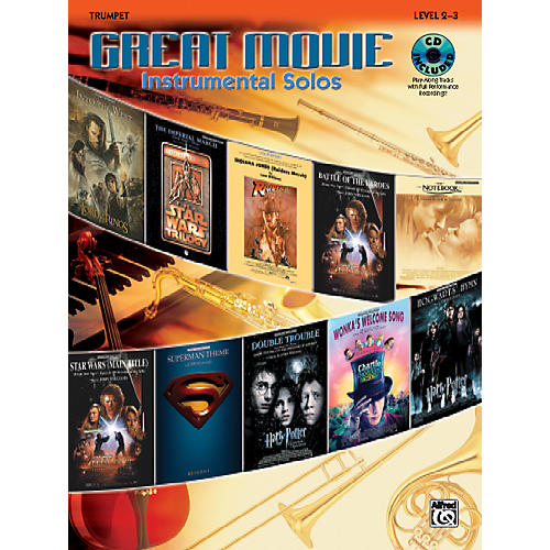 Alfred Great Movie Instrumental Solos Trumpet Book & CD thumbnail