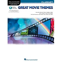 Hal Leonard Great Movie Themes For Clarinet - Instrumental Play-Along (Book/Online Audio)