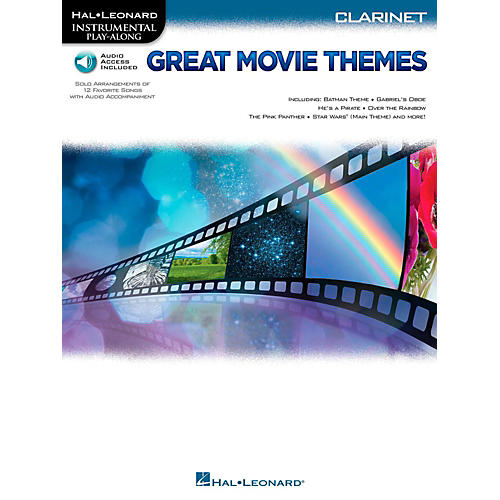 Hal Leonard Great Movie Themes For Clarinet - Instrumental Play-Along (Book/Online Audio) thumbnail