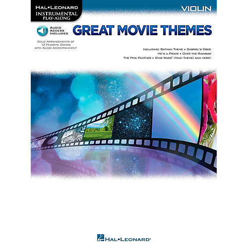 Hal Leonard Great Movie Themes For Violin - Instrumental Play-Along (Book/Online Audio) thumbnail