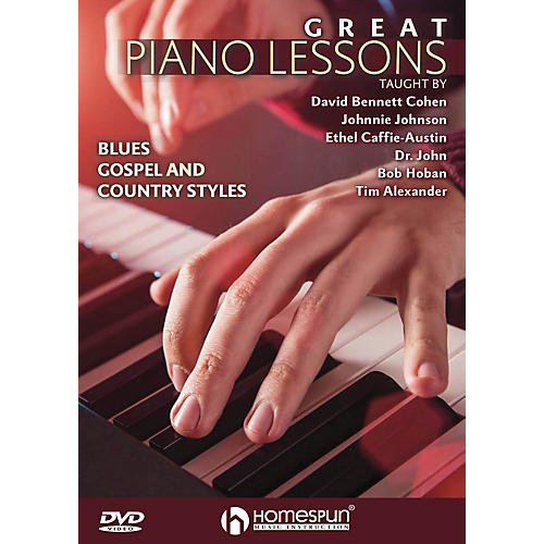 Homespun Great Piano Lessons: Blues, Gospel and Country Styles Homespun Tapes Series DVD by David Bennett Cohen thumbnail