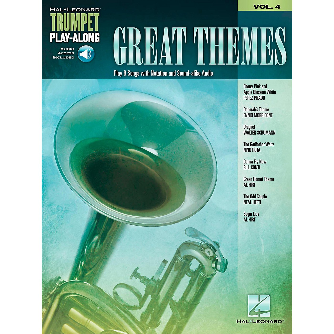 Hal Leonard Great Themes - Trumpet Play-Along Vol. 4 (Book/Audio Online) thumbnail