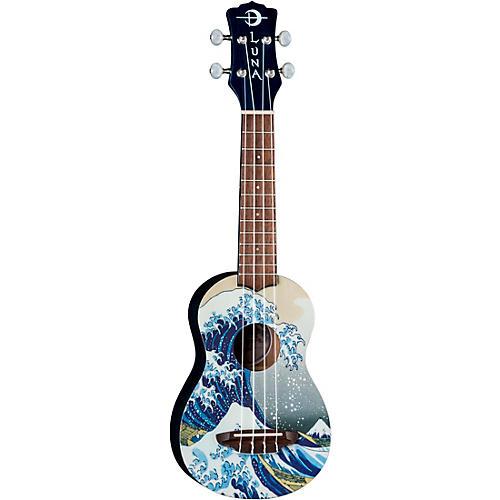 Luna Guitars Great Wave Soprano Ukulele thumbnail