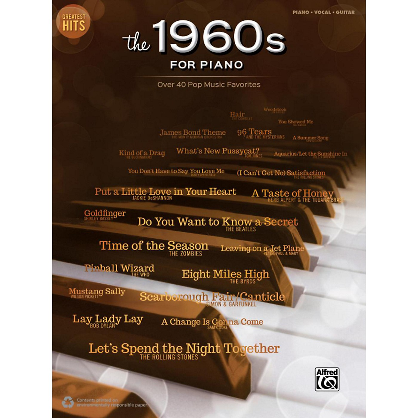 Alfred Greatest Hits: The 1960s for Piano Piano/Vocal/Guitar thumbnail