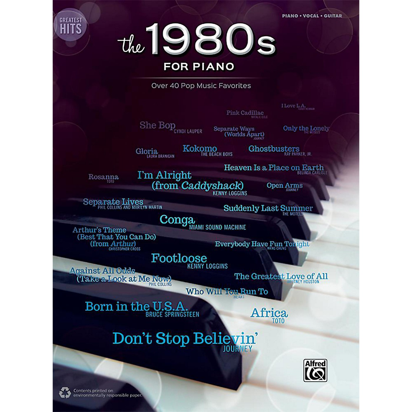 Alfred Greatest Hits: The 1980s for Piano - Piano/Vocal/Guitar Songbook thumbnail