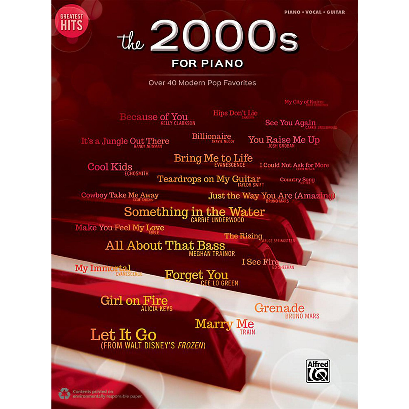 Alfred Greatest Hits: The 2000s for Piano - Piano/Vocal/Guitar Songbook thumbnail