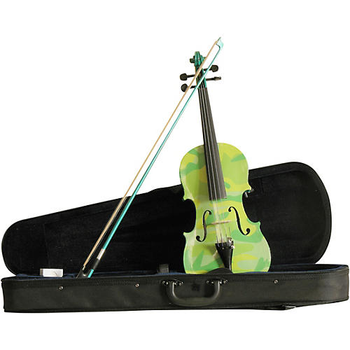 Rozanna's Violins Green Camouflage Series Violin Outfit thumbnail