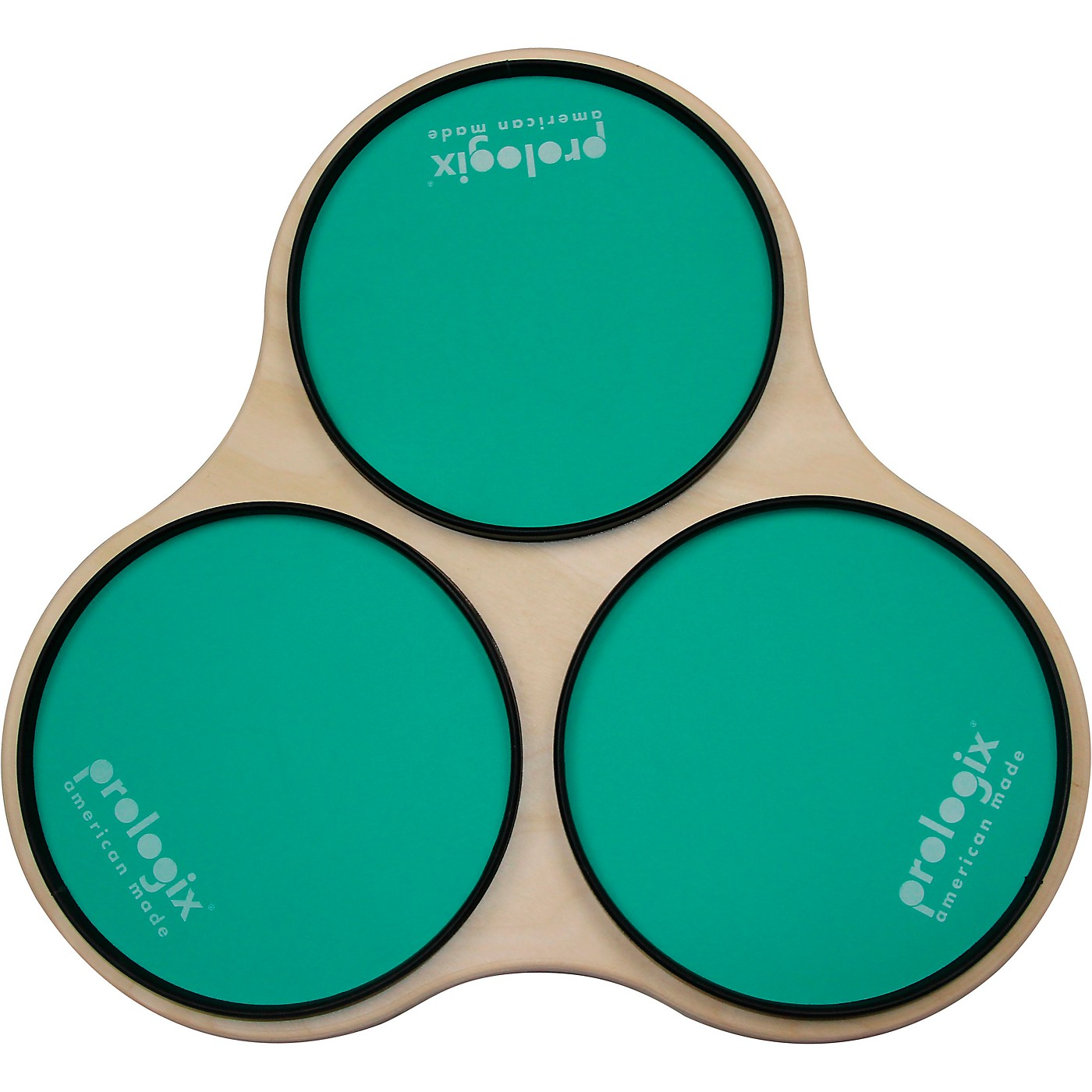 ProLogix Percussion Green Logix Sectional Practice Pad with Rims thumbnail
