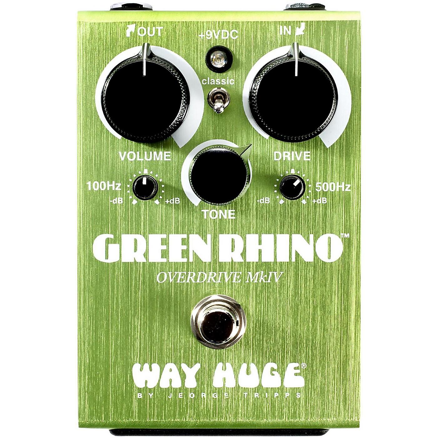 Way Huge Electronics Green Rhino Mini MK4 Overdrive Guitar Effects Pedal thumbnail