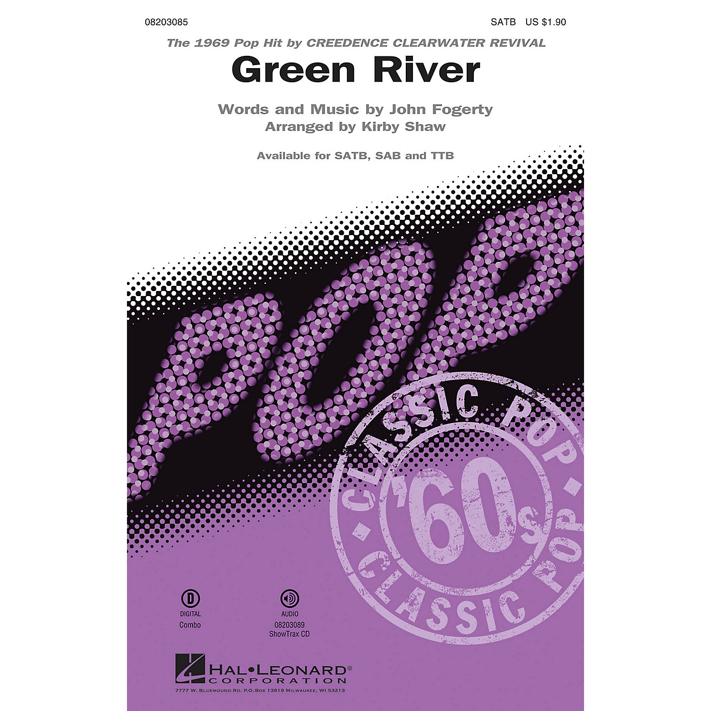 Hal Leonard Green River SAB by Creedence Clearwater Revival Arranged by Kirby Shaw thumbnail
