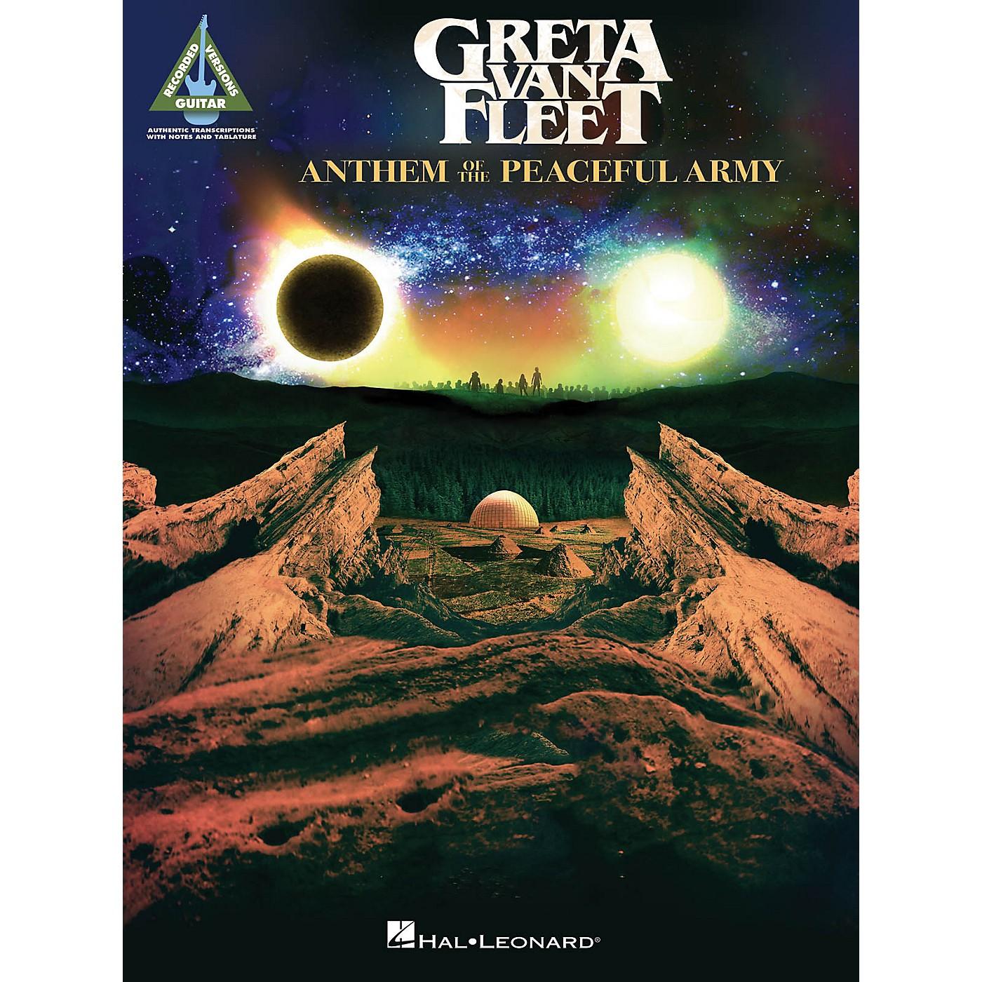 Hal Leonard Greta Van Fleet - Anthem of the Peaceful Army Guitar Tab Songbook thumbnail