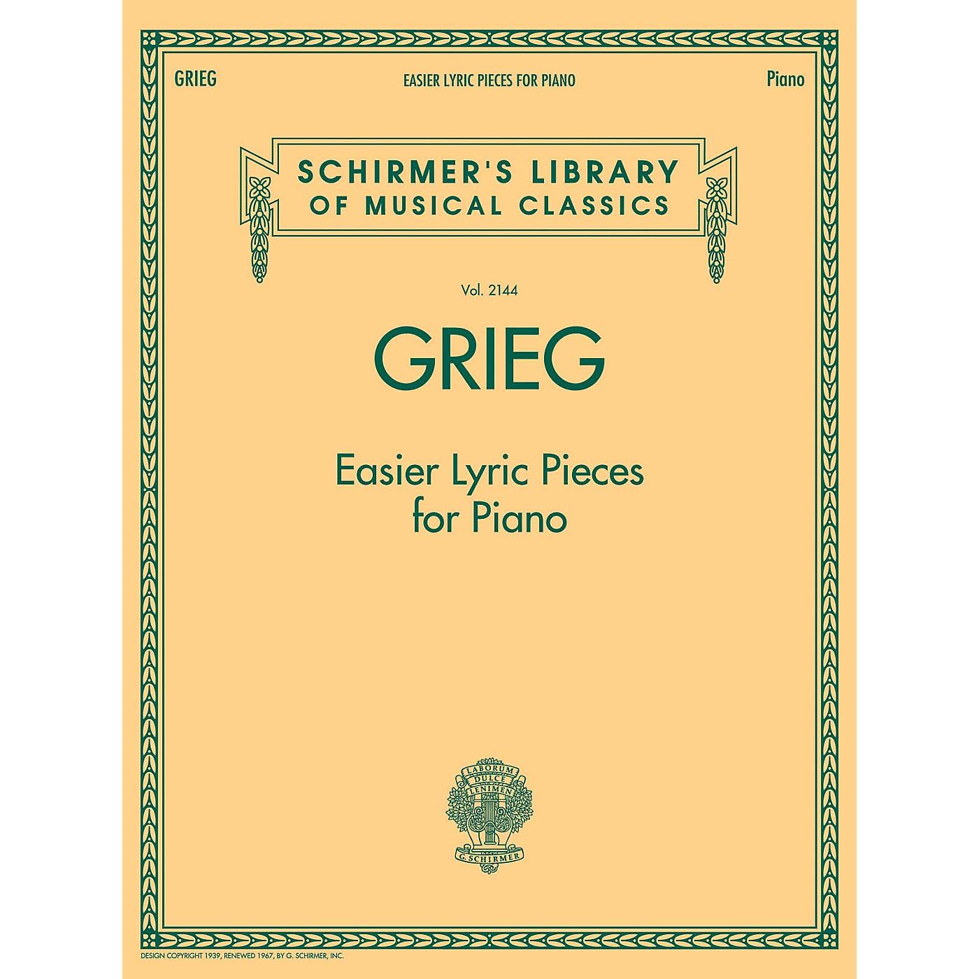 G. Schirmer Grieg - Easier Lyric Pieces for Piano thumbnail