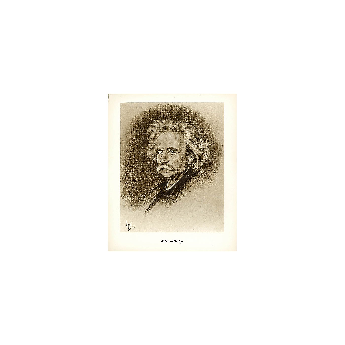Hal Leonard Grieg (Lupas Large Portrait Poster) Music Sales America Series thumbnail
