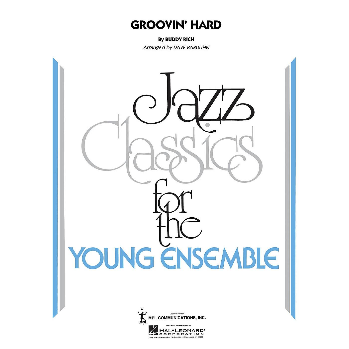 Hal Leonard Groovin' Hard Jazz Band Level 3 by Buddy Rich Arranged by Dave Barduhn thumbnail