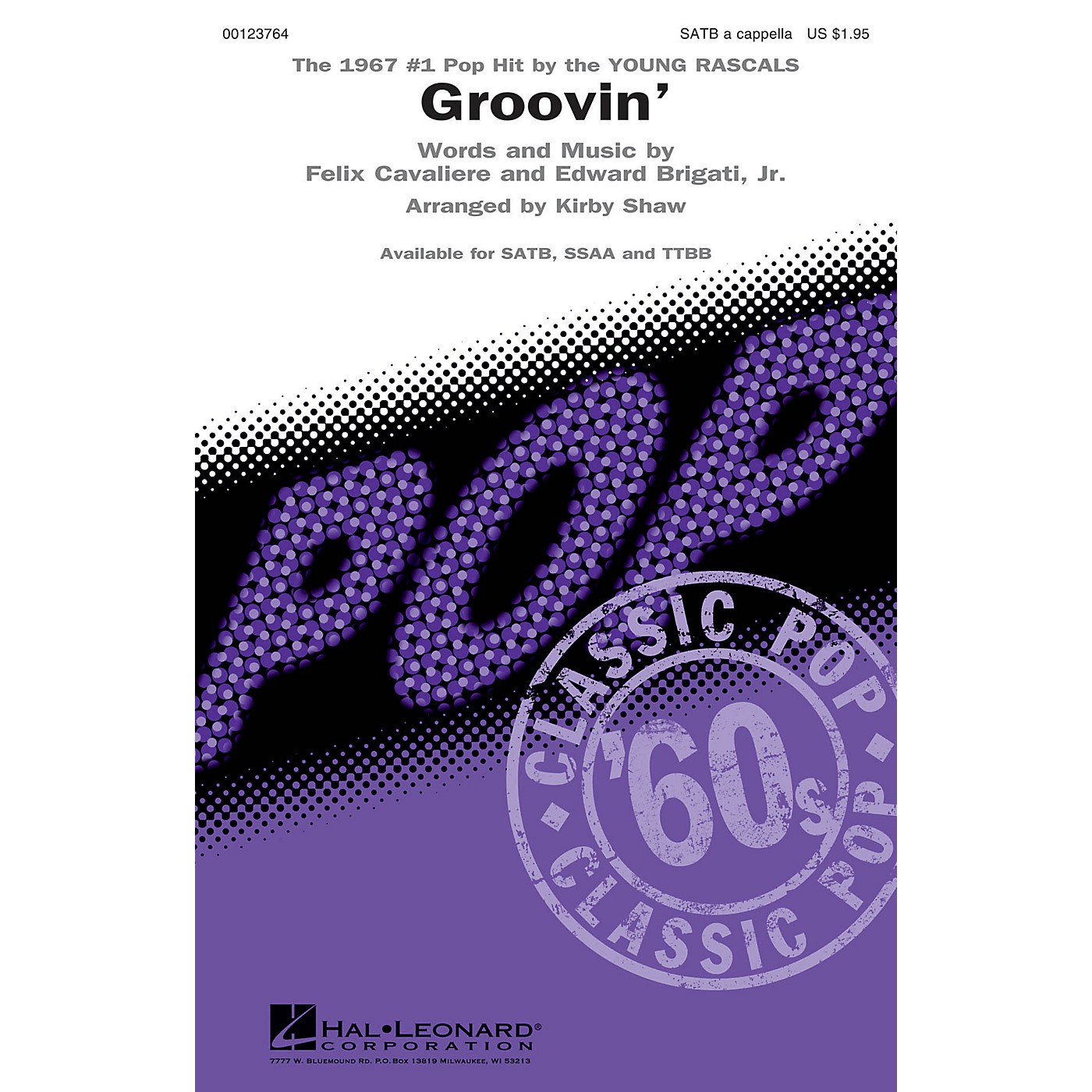 Hal Leonard Groovin' SATB a cappella by Young Rascals arranged by Kirby Shaw thumbnail